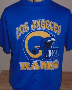 vintage 1980s Los Angeles Rams football retro t shirt XL by vintagerhino247 on Etsy