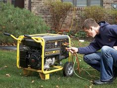 10 Tips for Using a Generator: Run a generator away from the house and more. http://community.familyhandyman.com/tfh_group/b/diy_advice_blog/archive/2012/11/29/10-tips-for-using-a-generator.aspx