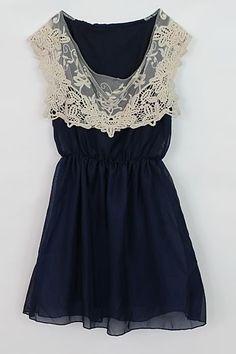 catvintage - Vestido Vintage Renda Verão Azul, Rosa e Branco Retro