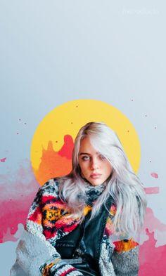 'Billie Eilish ' Poster by kalsime Wallpaper Collage, Wallpaper Free, Pastel Wallpaper, Wallpaper Downloads, Wallpaper Backgrounds, Amazing Wallpaper, Wallpaper Ideas, Desktop Wallpapers, Phone Backgrounds