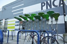 Pedal Garden at PNCA-3-1 by BikePortland.org. Bike rack designed by students of the Pacific Northwest College of Art, Portland ~ via Flickr