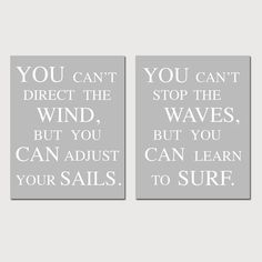 Nautical Inspirational Quote Duo  Set of Two 8 x 10 by Tessyla, $39.50