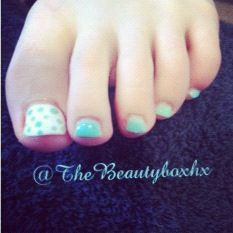 Jessica GELeration pedicure boyz'n berry and wedding gown by The Beauty Box hx
