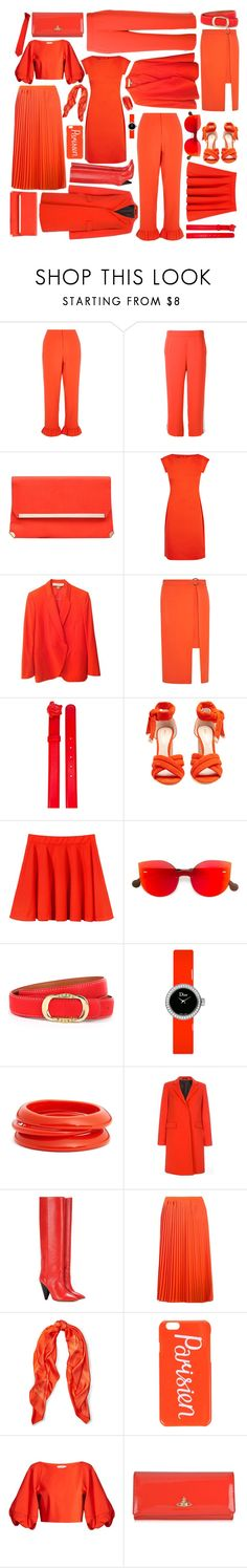 """""""Corail"""" by juju0000 ❤ liked on Polyvore featuring River Island, P.A.R.O.S.H., Carvela, Boutique Moschino, STELLA McCARTNEY, Dorothy Perkins, Versace, Nicholas Kirkwood, RetroSuperFuture and Christian Dior"""