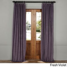 Half Price Drapes Signature Velvet Blackout Curtain Panel Size: W x L, Color: Pernial Green Curtains 1 Panel, Beige Curtains, Shabby Chic Curtains, Long Curtains, Rustic Curtains, Floral Curtains, Curtains Living, Velvet Curtains, Blackout Curtains