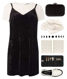 """Velvet dress"" by dianakhuzatyan ❤ liked on Polyvore featuring Dorothy Perkins, Nine West, Phase Eight, Howard Elliott, Sugar Paper, Sephora Collection, under100, polyvoreeditorial, velvetdresses and polyvoreset"