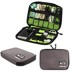 HEXIN Foldable Travel Gear Organizer Eletronics Accessories Bags *** Check this awesome product by going to the link at the image.