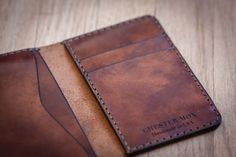 Roarcraft Selection: Chester Mox: Leather Wallets Handmade in the USA