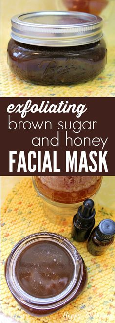 Exfoliating Brown Sugar & Honey Facial Mask Are you looking for a simple way to exfoliate and nourish your skin at the same time? This Exfoliating Brown Sugar & Honey Facial Mask is exactly what you need! Honey Facial Mask, Homemade Facial Mask, Face Scrub Homemade, Homemade Facials, Homemade Skin Care, Diy Skin Care, Facial Masks, Skin Care Tips, Homemade Beauty