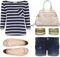 I definitely have a thing for navy/white stripes this season!!