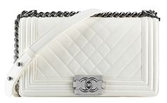 Chanel Spring 2014 Pre-Collection -Chanel White Patent Boy Bag