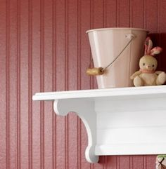 Painted beadboard wallpaper