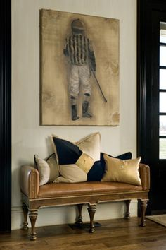 I want to have a painting of my jockey silks for my bedroom wall behind my bed.