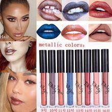 Hot Cosméticos Metálico Perlees Batom 16 Cores Beleza Batom Lips Gloss Batom Matte Metais Lábios Líquidos Muito Maquiagem alishoppbrasil