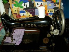Alis, 1935 Singer 99. Was knee controlled but I removed the motor and knee controller and turned her into a hand cranked machine.