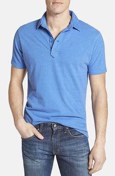 Men's Relwen Stripe Cotton Polo