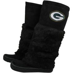Green Bay Packers Ladies Black Devotee Knee-High Boots omg i need this! Green Bay Packers Shoes, Nfl Green Bay, Packers Gear, Packers Football, Chicago Girls, Nfl Chicago Bears, Green Bay Packers Merchandise, Sock Shoes, Knee High Boots