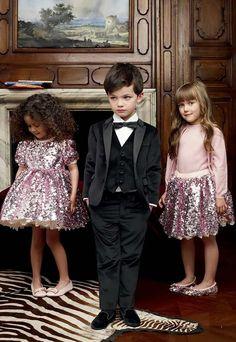 Festive children's fashion for girls - pink glitter skirt and blouse
