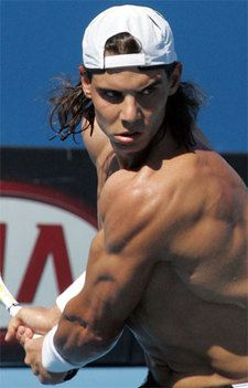 One bad ass tennis player!  Love his intense style of play.  I hope he beats  Djokovic in French Open.
