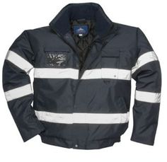 This is a stylish and high quality Iona Lite Bomber jacket, in the colour navy blue. With the reflective strips you are still going to be able to be seen in all lights. This type of jacket is perfect for security. We offer this jacket in a range of sizes, starting from small and going up to extra extra large.