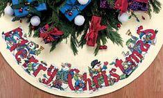 Punto de Cruz GRATIS: Mantel Redondo de Navidad
