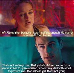 Lines from the book with the pictures from the movie !! #Divergent !