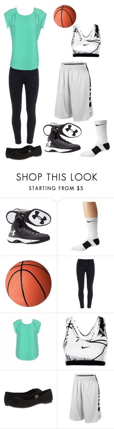 """First basketball game today :)"" by cowgirlbyheart ❤ liked on Polyvore featuring Under Armour, NIKE, Paige Denim, Ally Fashion and Rocket Dog"