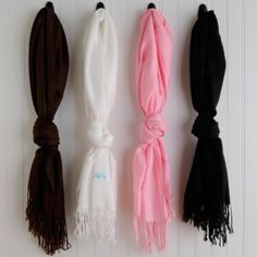 Personalized Pashmina Scarf - Bridesmaid Gifts - Wedding Gifts $24