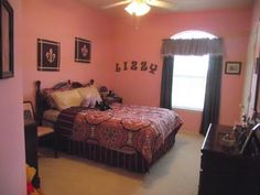 pink and brown girl's room