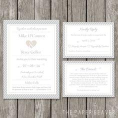 DIY Printable Wedding Invitation Template - Modern Wedding Invite Card - RSVP Event Details Card - WI02 on Etsy, $27.55 AUD