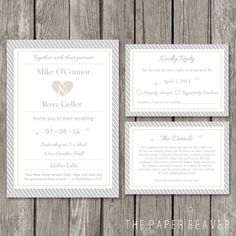 DIY Printable Wedding Invitation Template - Modern Wedding Invite Card - RSVP Event Details Card - WI02 on Etsy, $27.55 AUD