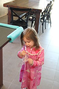 Smart.  pool noodle = babybumpers