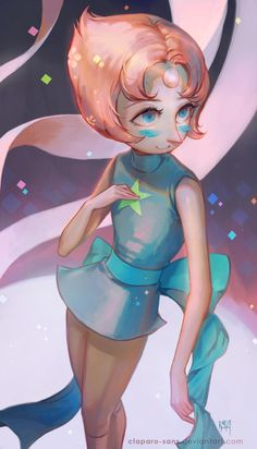 Pearl from Steven Universe. Steven Universe Theories, Universe Art, Pearl Fanart, Character Art, Character Design, Perla Steven Universe, Pearl Steven, Kawaii, Star Vs The Forces Of Evil