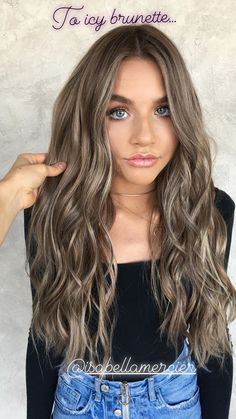 Hair Highlight Color Icy Brunette - All For Hair Color Trending Brown Hair Shades, Brown Ombre Hair, Brown Hair Balayage, Brown Hair With Highlights, Brown Blonde Hair, Hair Color Highlights, Ombre Hair Color, Light Brown Hair, Brown Hair Colors