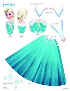 FROZEN Elsa Papercraft - Frozen day activity