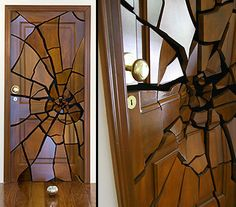 """Replicate in cardboard and this would make an awesome decoration for the """"Thousand Doors of Death"""" Halloween party. Holidays Halloween, Fall Halloween, Halloween Crafts, Halloween Decorations, Halloween Ideas, Cool Doors, Unique Doors, Door Design, Windows And Doors"""