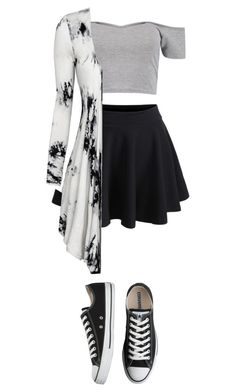 """Untitled #54"" by tati-matewa on Polyvore featuring WithChic, Boohoo and Converse"
