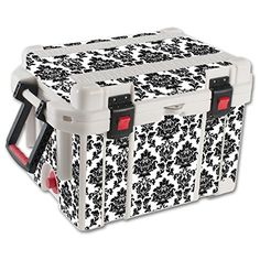 MightySkins Protective Vinyl Skin Decal for Pelican 35 qt Cooler wrap cover sticker skins Vintage Damask *** Want additional info? Click on the image.