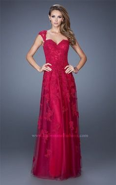 La Femme 20558 Cranberry Long Formal Dresses of 2015