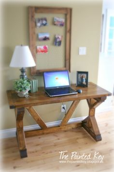 Diy desk for 70 pinterest desks house and room my fancy x desk do it yourself home projects from ana white solutioingenieria Images