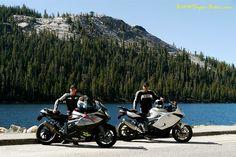 Shot by me, K1300S High Speed Trip at Mirror Lake, Yosemite.  Andy Sills (l), Shiva (r).