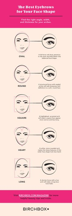 Flatter your face shape with the right angle, width, and thickness for your arches.