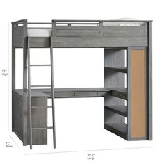 Deciding to Buy a Loft Space Bed (Bunk Beds). – Bunk Beds for Kids Loft Bunk Beds, Bunk Bed With Desk, Bunk Beds With Stairs, Kids Bunk Beds, Loft Bed Storage, Loft Bed Desk, Bedroom Loft, Girls Bedroom, Bedroom Ideas