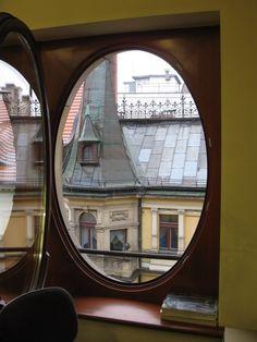 Through Feniks Dept store window, Wrocław, Poland