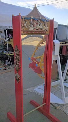 I'm still building props for my carnival theme and just finished this fun house mirror.