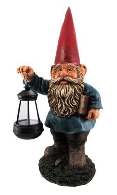 Garden Gnome Holding Lantern Statue LED Light 17 in tall, 8 in long, 6 in deep LED Battery Powered Lantern Make A Great Gift Hand-Painted Cold Cast Resin Battery Powered Lanterns, Solar Lantern Lights, Funny Garden Gnomes, Gnome Garden, David The Gnome, Outdoor Garden Statues, Gnome Statues, Home Garden Design, How To Make Lanterns