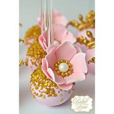 """1,214 Likes, 50 Comments - Stephanie Perez (@_bakedwithlove_) on Instagram: """"Floral cake pops for Arya's birthday celebration!  #flower #floralcakepops #edibleflower #fondant…"""""""