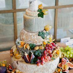 Cheese (wheel) wedding cake