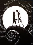 Nightmare before christmas painting by *Corpse-boy on deviantART