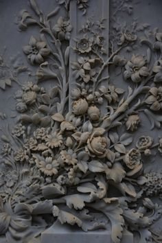 Dark grey painted wood panel or door - beautiful detailing